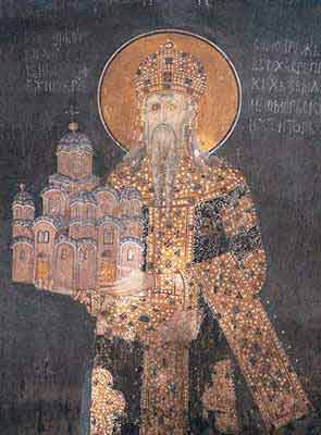 The founder of the Monastery - King Milutin