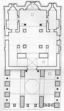 the plan of Gracanica church