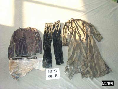 The clothing of Fr. Chariton found on his body
