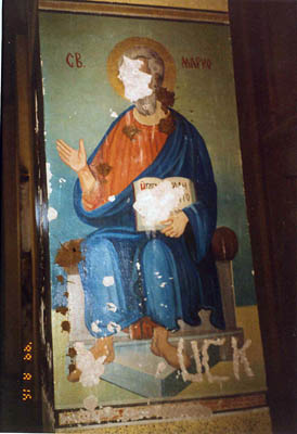 St Apostle Mark - Vandalized by UCK